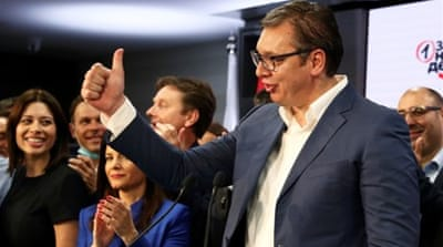 Serbia's ruling party claims election win