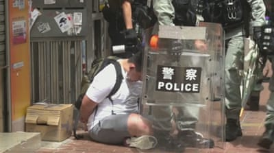 Hong Kong: Hundreds arrested over China security law protests