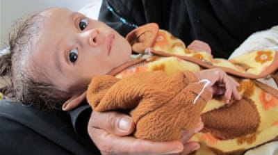 Hunger grips Yemen's children
