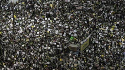 Brazil protesters weigh president's promises
