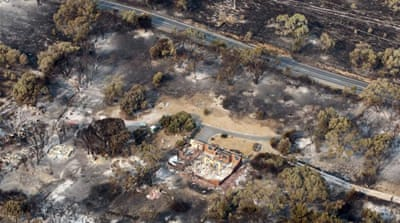 Wildfires in Australia's greenest state