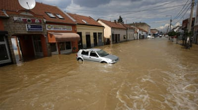 Serbian town wiped out by floods
