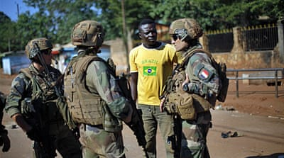 On patrol with French troops in Bangui