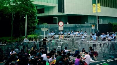 Hong Kong protesters sure of goal, not method