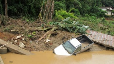 Brazil floods and landslides leave misery in wake