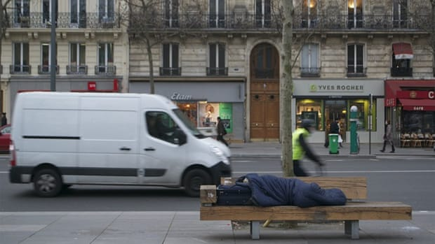 Paris' homeless population has risen by 84 percent in 10 years [Kait Bolongaro/Al Jazeera]