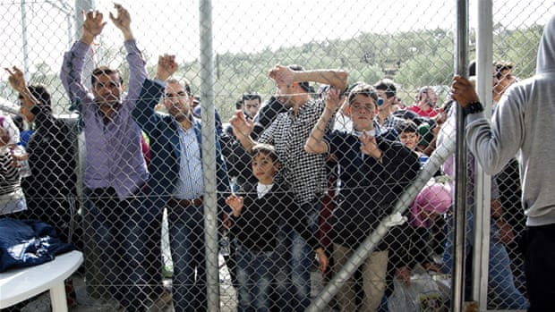 Hiding a humanitarian crisis on Greece's Lesbos