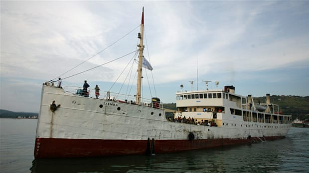 MV Liemba draws into port at Kigoma, Tanzania, with 600 Burundian refugees on board [Jessica Hatcher/Al Jazeera]