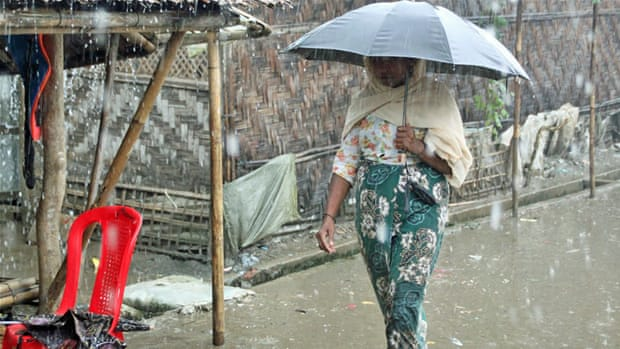 Displaced Rohingya rocked by devastating floods