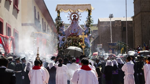 Dancing for the Virgin of Candelaria in Peru