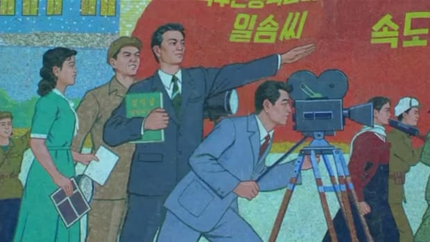 Behind the scenes at North Korea's film academy
