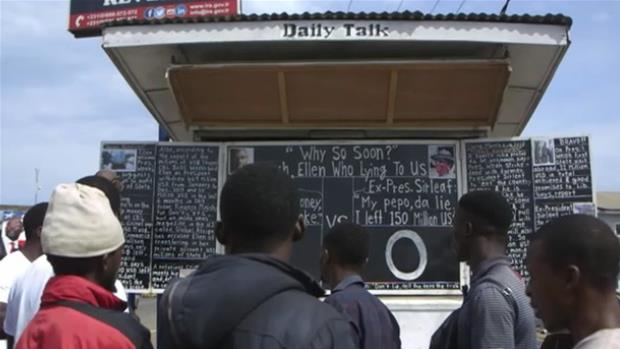 Alfred's Free Press: Liberia's Blackboard Reporter