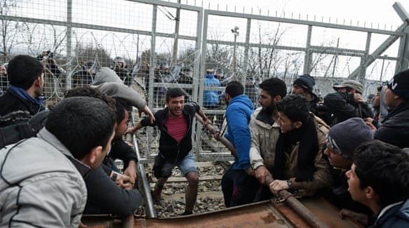 Rioting at Greek border