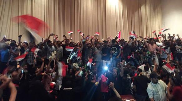 Iraqis storm Baghdad partliament