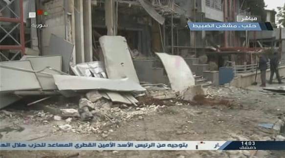 Aleppo hospital hit by rebels