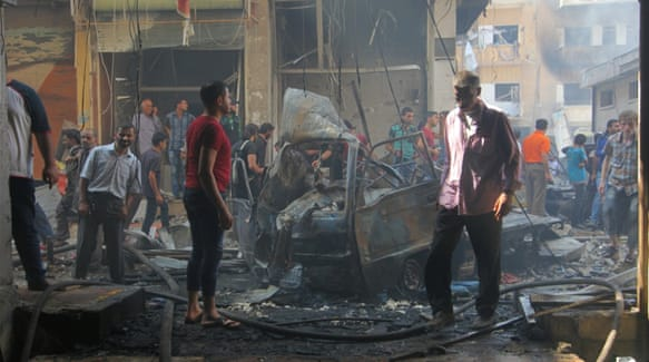At least 36 people were killed in air strikes on a crowded Idlib market [Reuters]