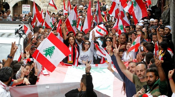 'All of them': Lebanon protesters dig in after Nasrallah's speech