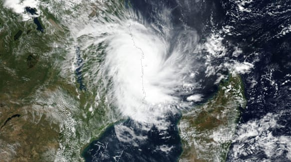 Tens of thousands evacuated as Cyclone Kenneth hits Mozambique