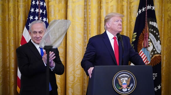 Bildresultat för World leaders react to Trump's Middle East plan US president unveils long-awaited proposal that is instantly rejected by Palestinians and sparks calls for protests.""