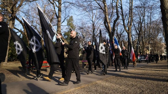 Neo-Nazis from across Europe rally in Budapest