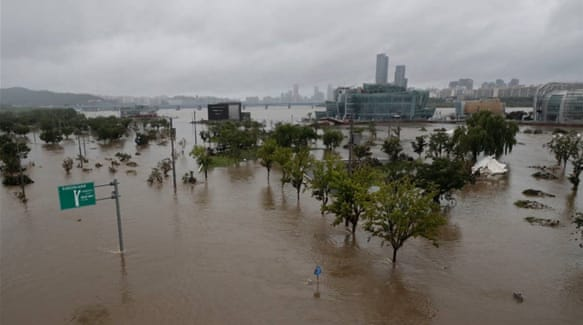 South Korea floods, landslides kill dozens and displace thousands