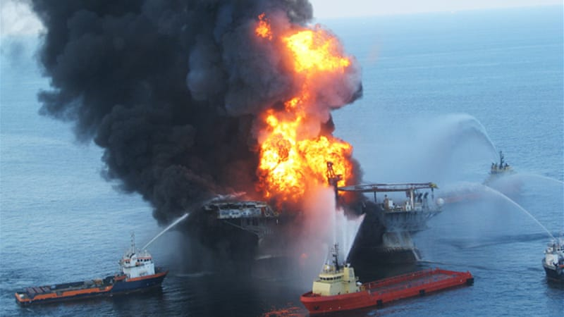 The offshore oil rig Deepwater Horizon exploded on April 20, 2010 [Getty]