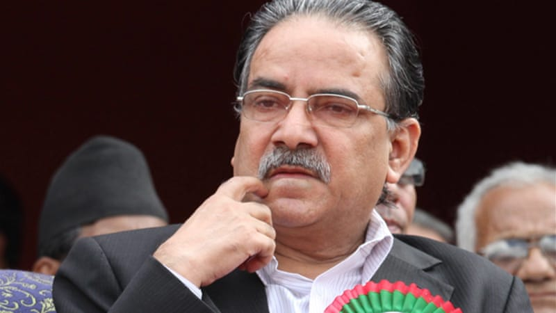 The Maoists party chairman, Pushpa Kamal Dahal, lost his constituency seat in the November polls [EPA]