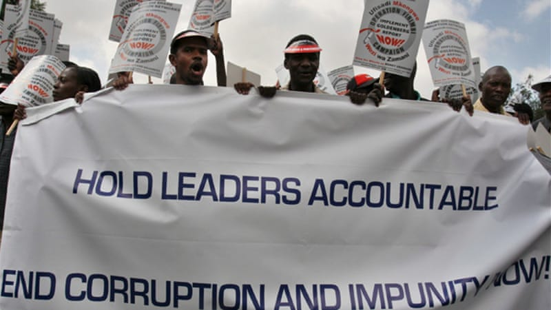 Kenya is ranked 139 out of 176 countries in Transparency International's global corruption perceptions index  [EPA]