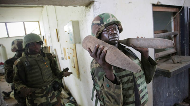 Currently 22,000 African Union troops are in Somalia to support the country's internationally backed government [EPA]