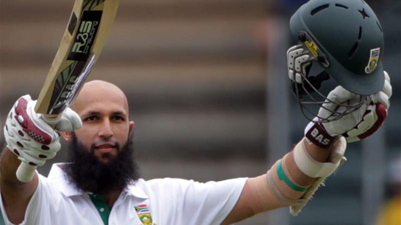 Amla came to the crease against England with his team struggling on 1-1 and two days later had scored 311 not out helping them to a match-winning 637-2 [EPA]