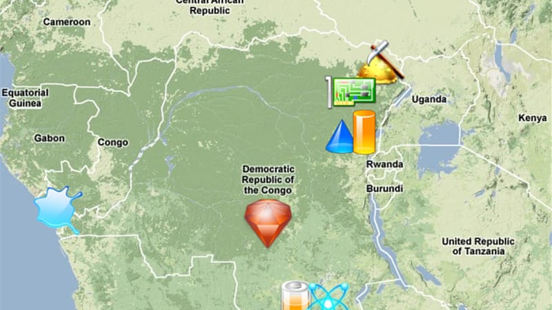Map: Natural resources in DR Congo | Japan News | Al Jazeera