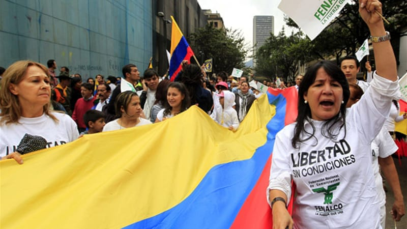 Many Colombians have held nationwide protests against FARC, blaming it as the main source of unrest [Reuters]