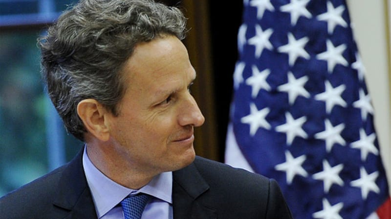 US Treasury Secretary Timothy Geithner's TARP legislation reportedly helped just 30,000 people [EPA]