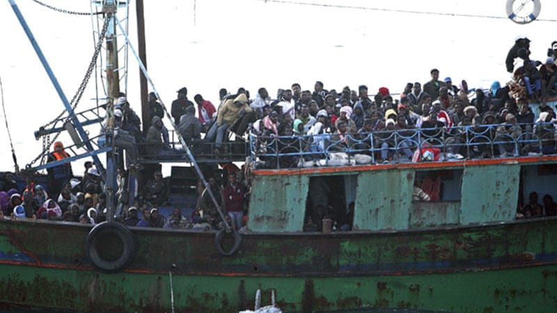 Thousands fled the unrest in Tunisia and Libya, mostly bound for the Italian island of Lampedusa, last year [Reuters]