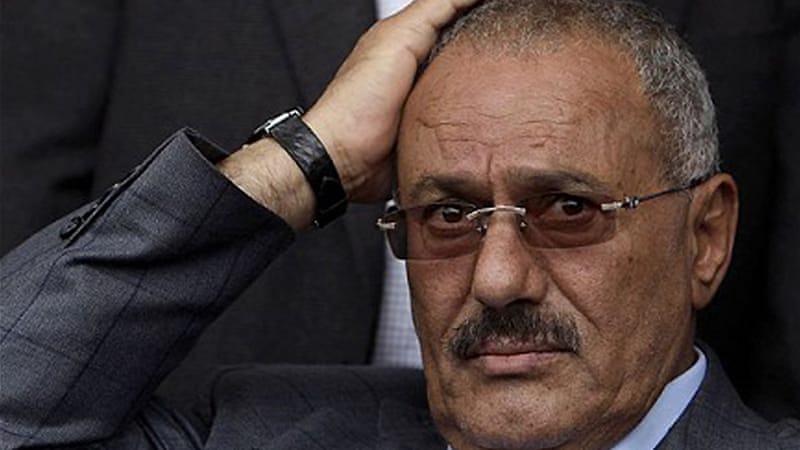 The report said Saleh had been actively seeking to find ways to hide assets in anticipation of sanctions [AFP]