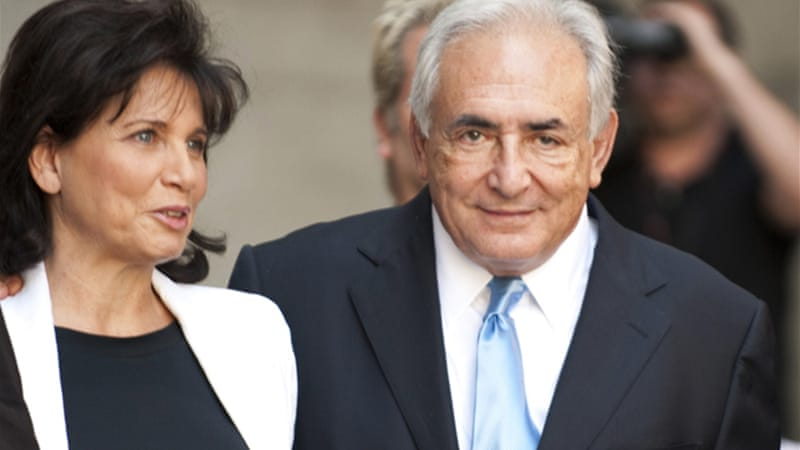 Anne Sinclair (left) separated from Dominique Strauss-Kahn in the wake of the allegations against her husband [AFP]