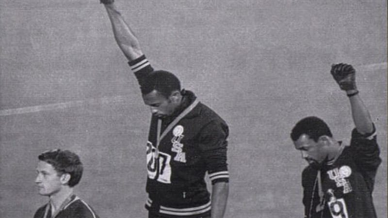 Tommie Smith and John Carlos display the Black Power salute at the Mexico Olympics in 1968 [AP]