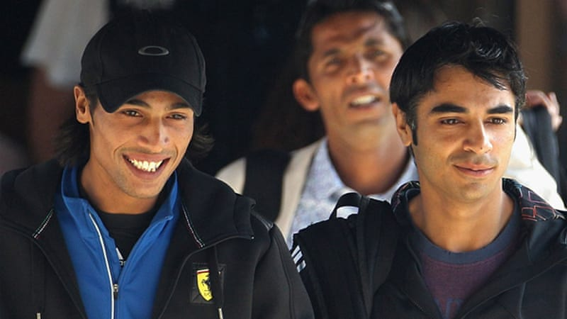 Amir, pictured left, was suspended by the ICC anti-corruption tribunal for fixing parts of the Lord's Test [GETTY]