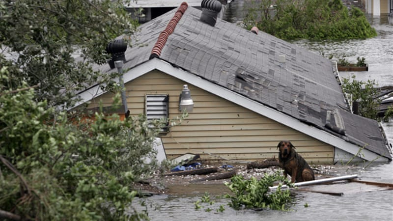 Hurricanes Rita and Katrina alone caused $165 billion in combined damages [EPA]