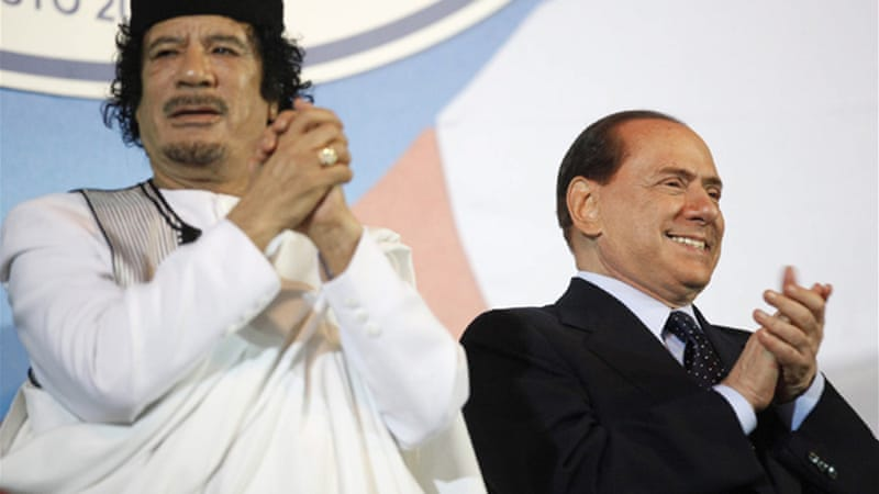 "Gaddafi had signed a ""friendship treaty"" with Italy which led to rise in investments between the two nations"