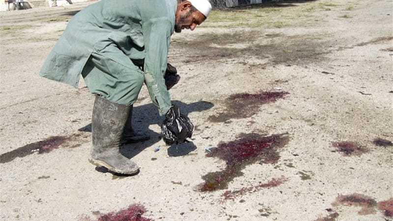 The victims of the bombing included NATO soldiers and Afghan police, as well as a number of civilians [Reuters]