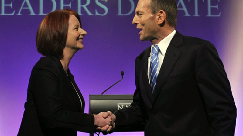 Gillard accused Abbott of possessing double standards when it came to sexism [AFP]