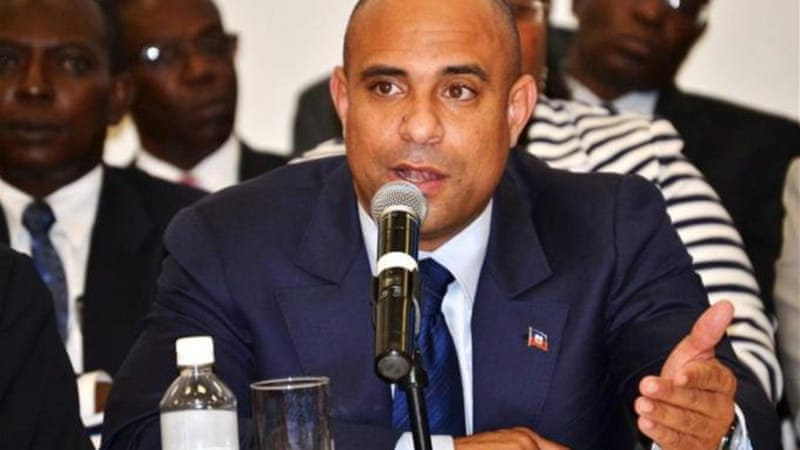 Laurent Lamothe has been the Haitian prime minister since May [EPA]