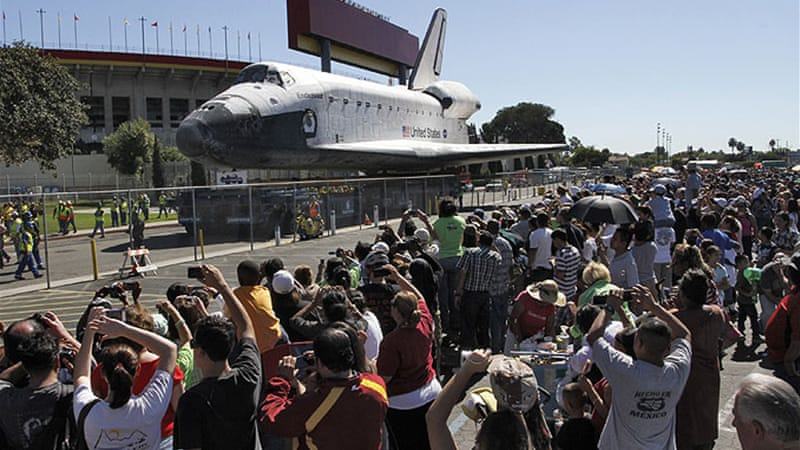Endeavour was largely built in southern California and was a workhorse of the US space programme [Reuters]