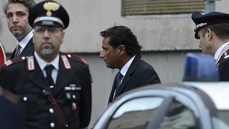 Schettino is accused of manslaughter, causing a shipwreck and abandoning ship early [EPA]