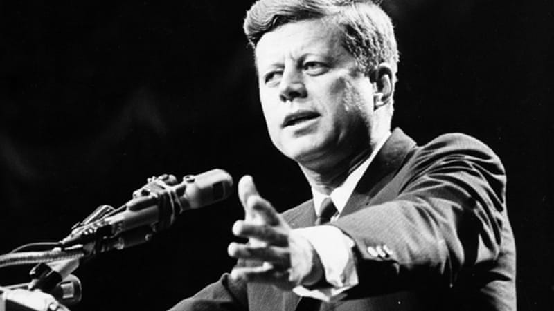 "Ten days before his assassination, Kennedy approved a CIA plan for ""destruction operations"" by US proxy forces ""against a large oil refinery and storage facilities... and underwater demolition of docks and ships"" [GALLO/GETTY]"