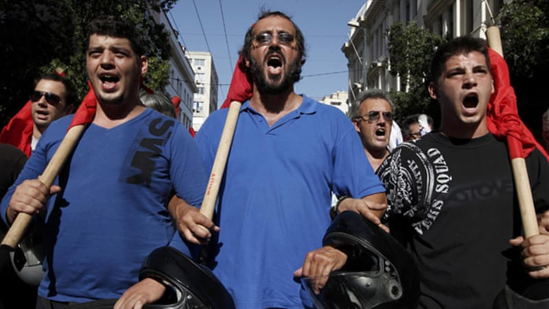There has been a series of 24 hour strikes in Greece over the past year as opposition to austerity measures[Reuters]