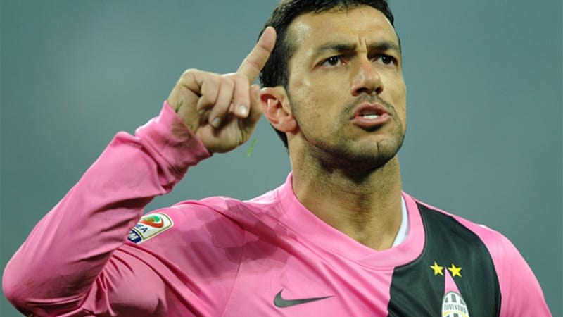 Former Napoli striker Fabio Quagliarella, who joined Juventus in 2010, has said he will not celebrate if he scores out of respect for the Napoli fans [EPA]