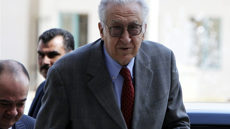 The violence comes on the eve of arrival of Lakhdar Brahimi, the UN-Arab League envoy, in Damascus [Reuters]