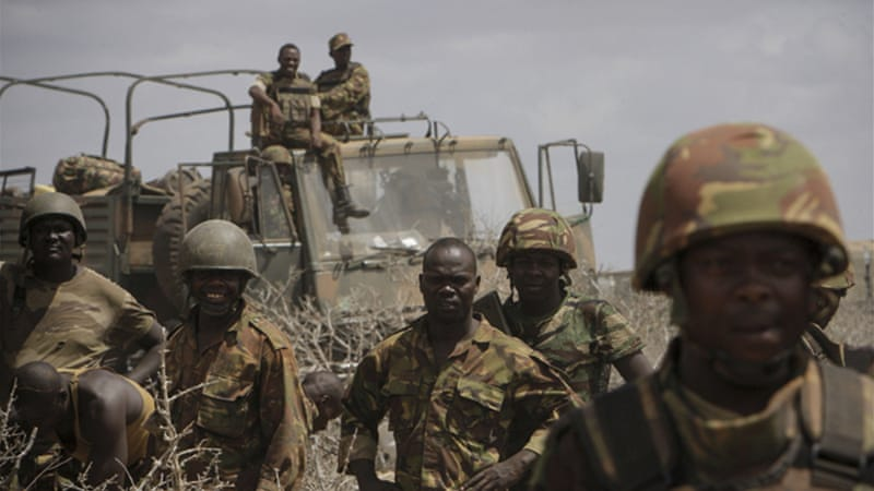 Kenyan soldiers took the lead in an air, sea and ground assault to force al-Shabab to abandon the city [Reuters]